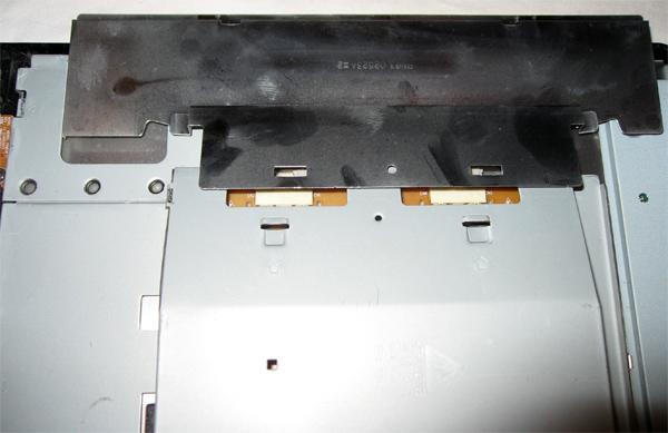 Déclipsage de la plaque métallique