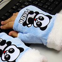Mitaines bleues panda