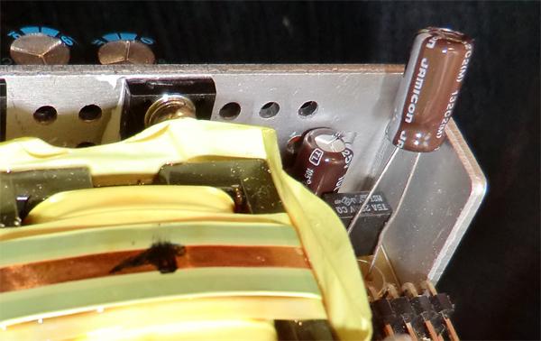 Mise en place des condensateurs