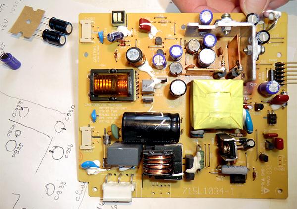 Les condensateurs c932 et le c930 ont été changés