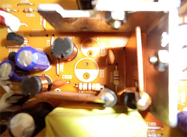 Emplacement des condensateurs c925 et c926