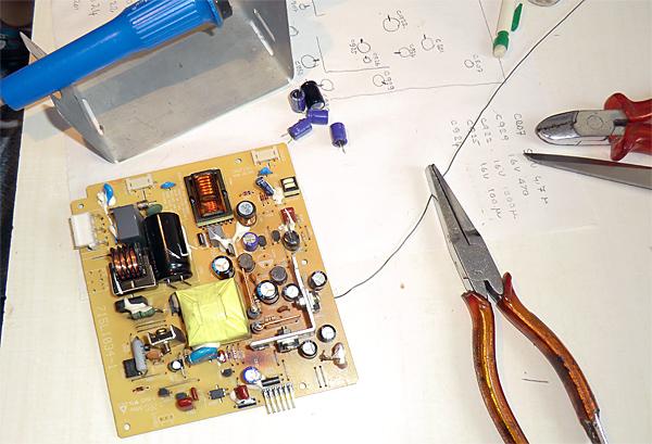 changement-condensateur-carte-alim-hp-1523-materiel2