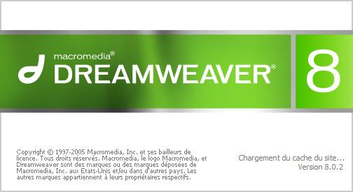 Installation dreamweaver 8.0.2 splash screen
