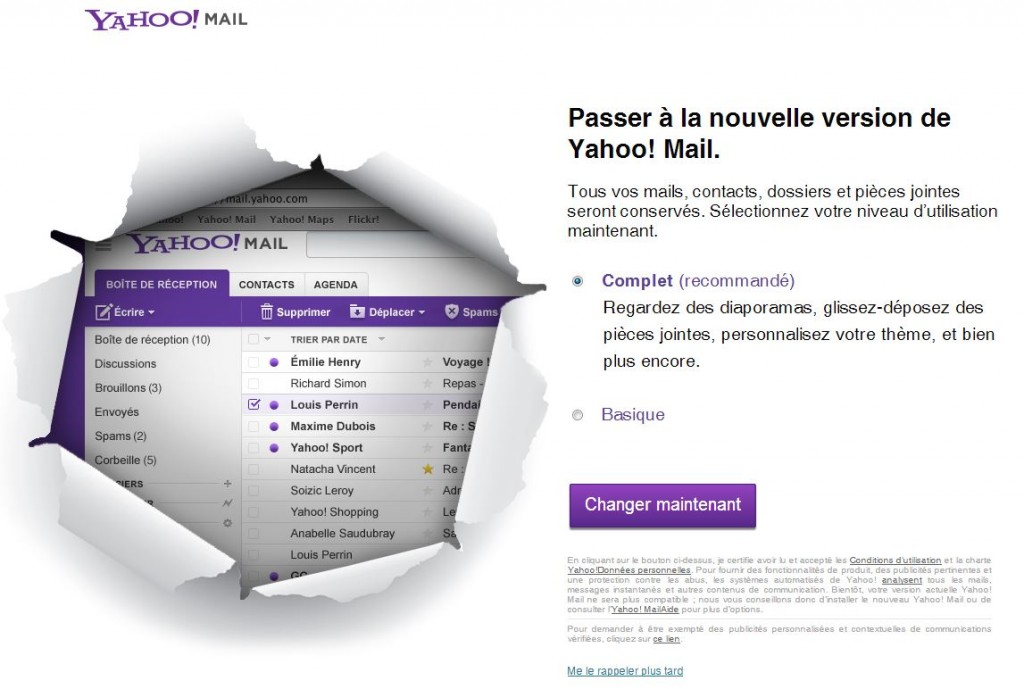 Passage Yahoo Mail