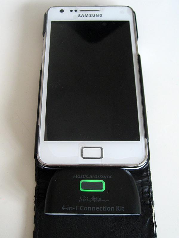 A daptateur connecté au Samsung Galaxy S2
