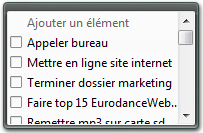 Widget todo list