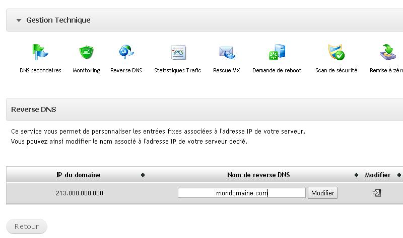Espace client ikoula reverse DNS