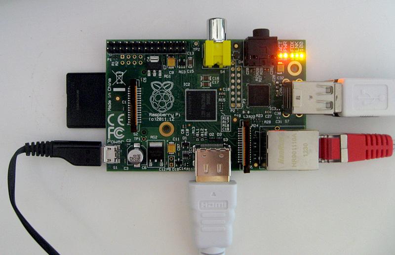 Raspberry pi connecte et allumé