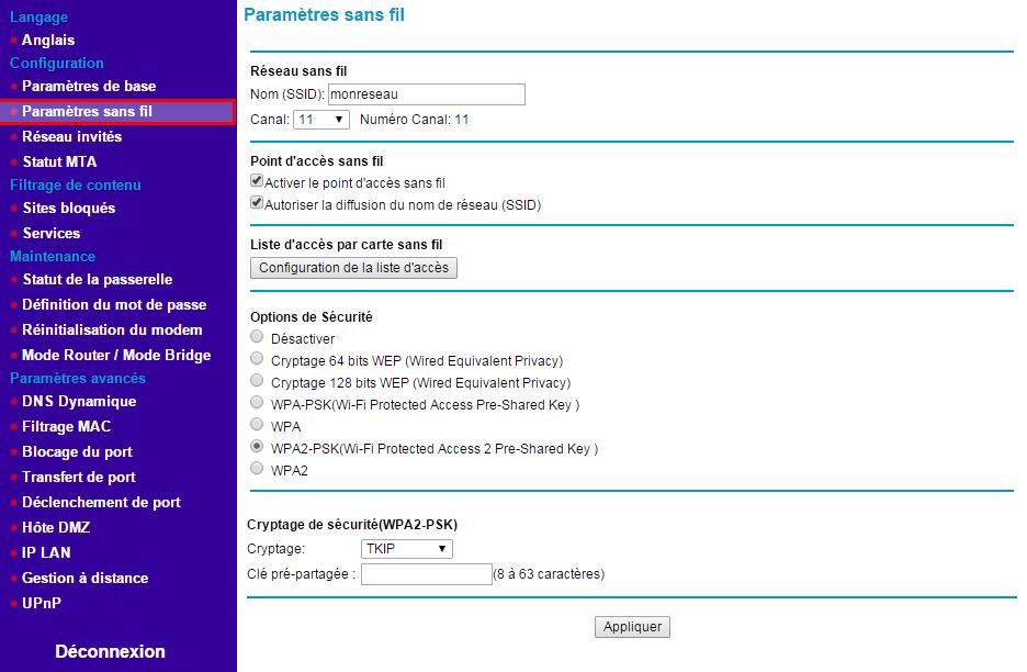 netgear-cbvg834g-interface-accueil-parametres-sans-fil