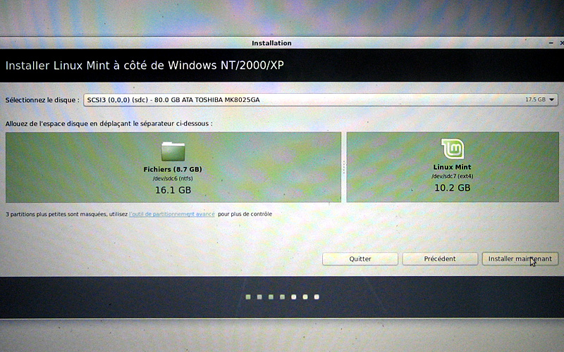 l'espace d'échange est complet installation de Linux