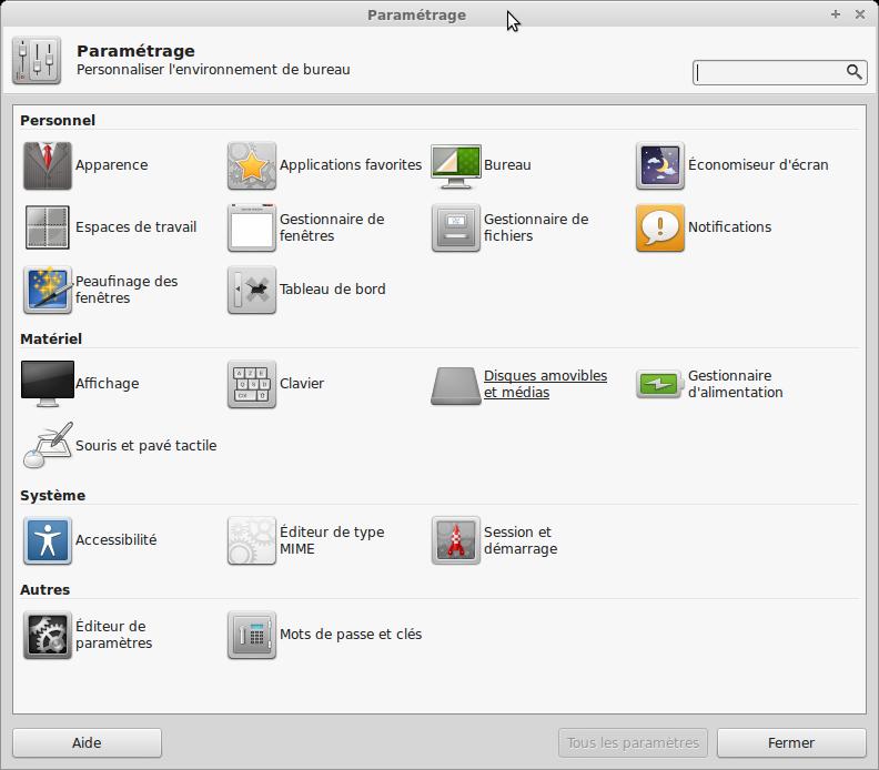 linux-mint-parametres