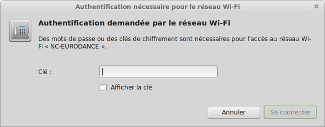 linux-mint-wifi-cle-wep