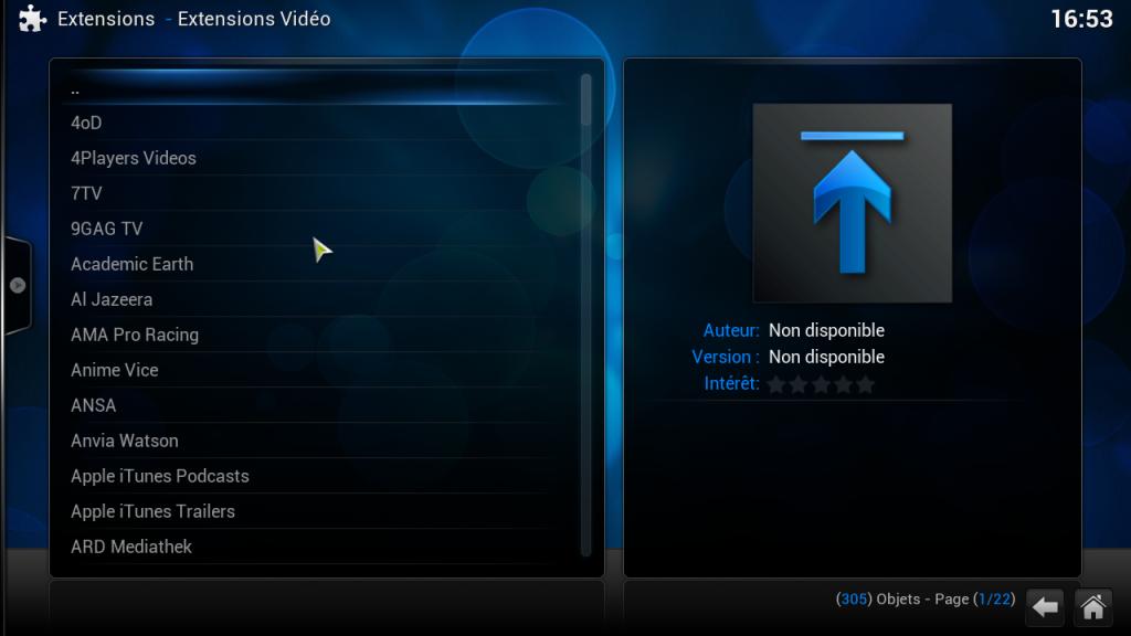 raspbmc-extensions-video-disponibles