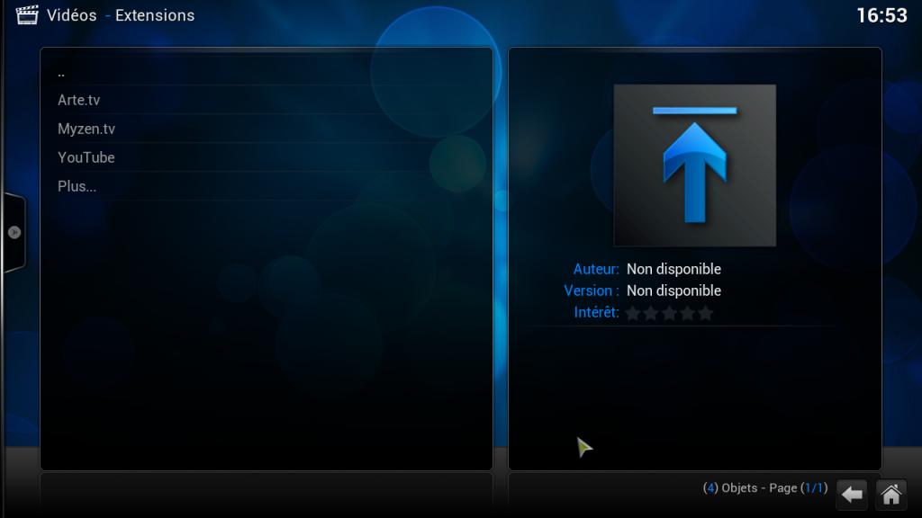 raspbmc-extensions-video-installees
