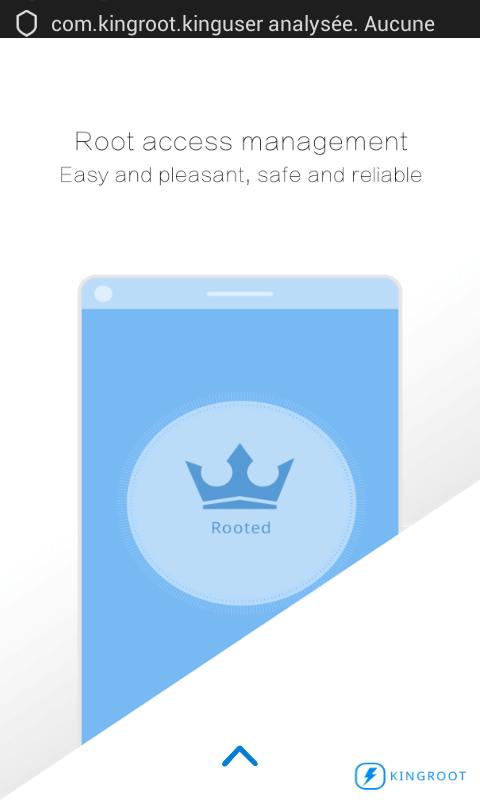 Premier lancement application Kingroot