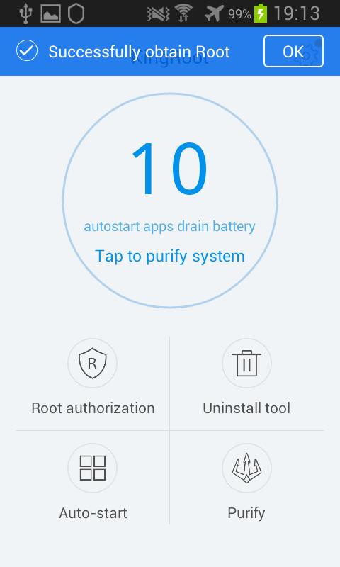 Kingroot Android écrans applications consommatrices de batterie