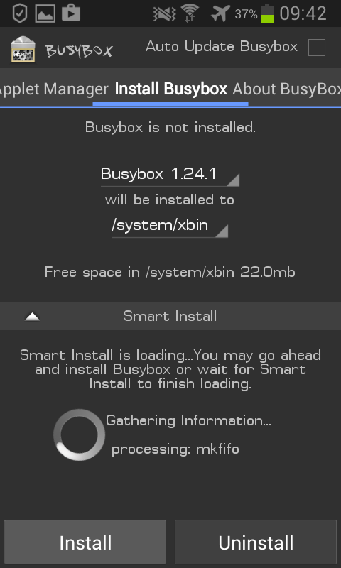 Busybox Android non installe