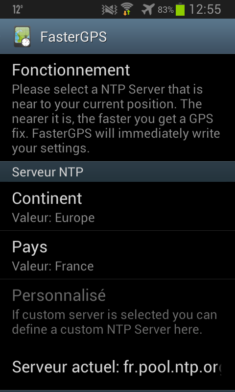 Application FasterGPS