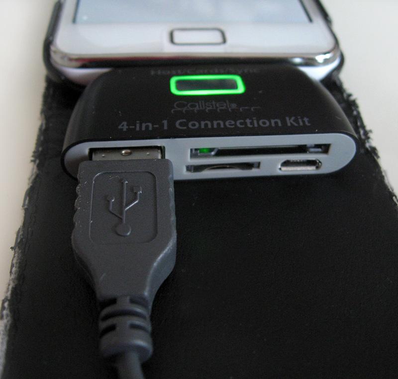 connexion d'une souris USB sur smartphone