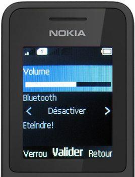 nokia 130 écran appui sur le bouton éteindre