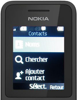 nokia 130 ecran contacts