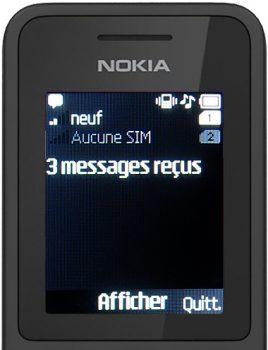 nokia 130 nouveaux messages