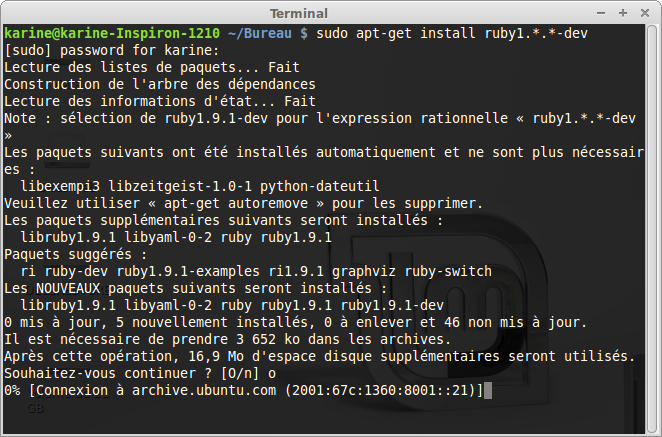 Installation de Ruby