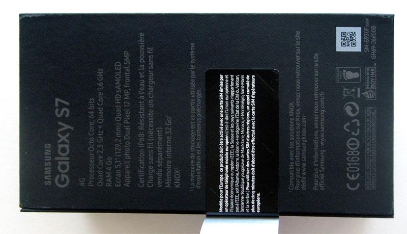 Boîte du Samsung Galaxy S7