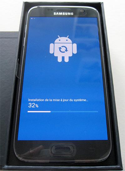 Installation d'une mise à jour système Samsung Galaxy S7