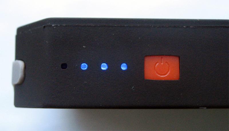 Le bouton power et les diodes