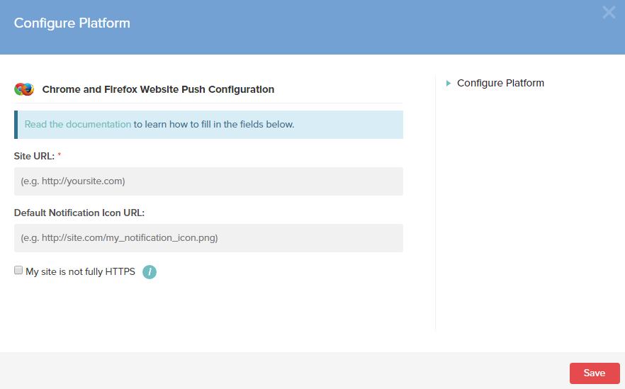 Configuration de la plateforme Chrome Mozilla