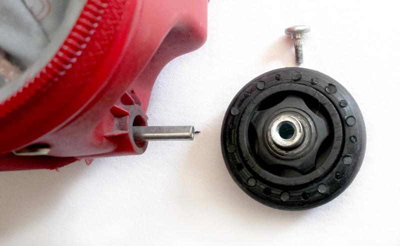 Ancienne roue démontée