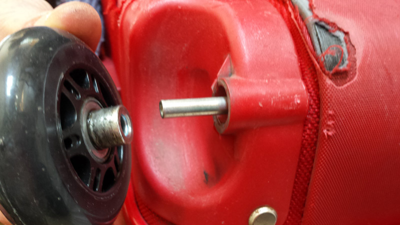 Remise en place de la roue
