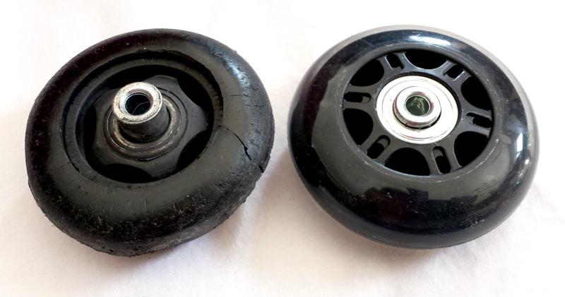 Ancienne et nouvelle roue
