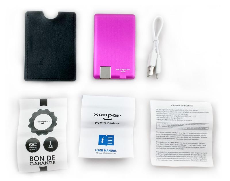 Accessoires de la batterie Xoopar Powercard