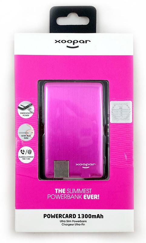 Emballage de la batterie Xoopar Powercard
