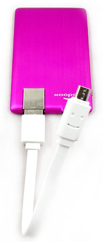 Batterie Xoopar Powercard et câble