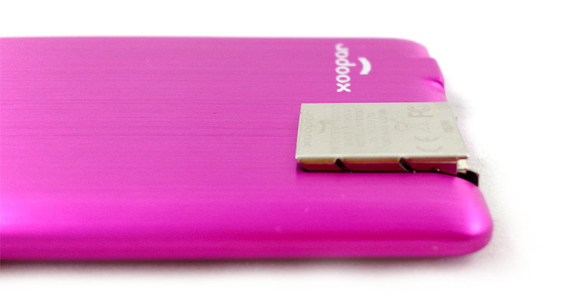 Batterie Xoopar Powercard port USB levé