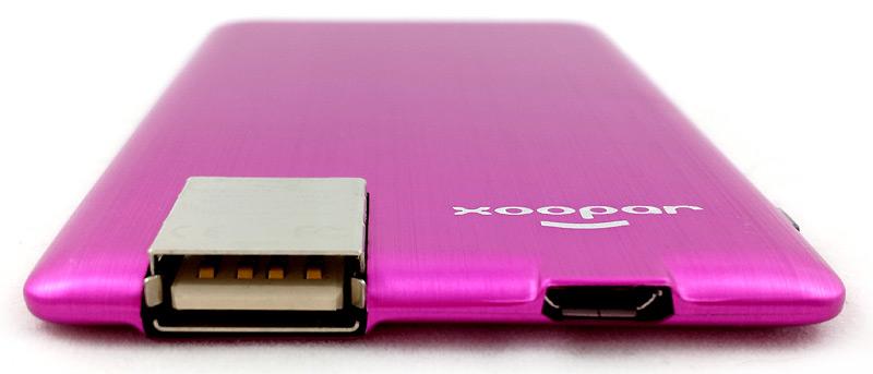 Ports USB de la batterie Xoopar Powercard