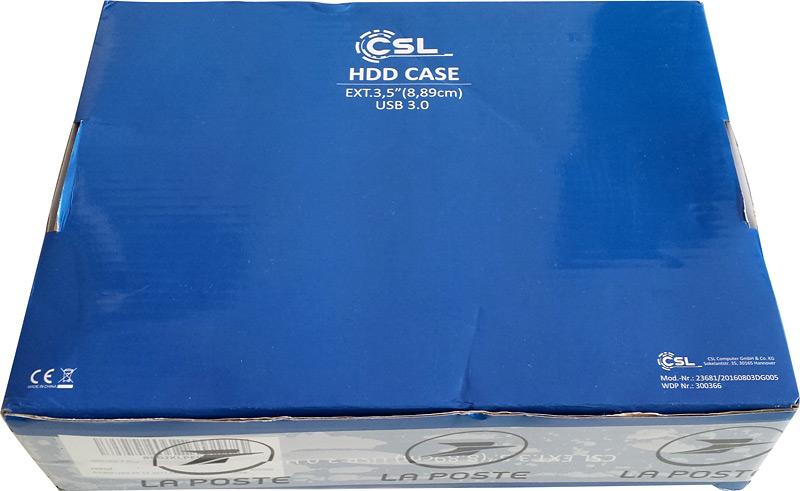 Boîte du boîtier disque dur CSL Computer