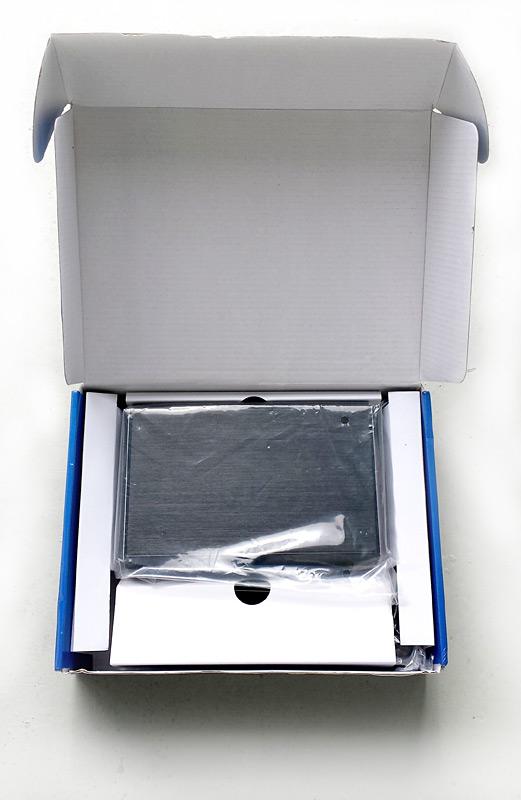 Boîte du boîtier disque dur CSL Computer ouverte