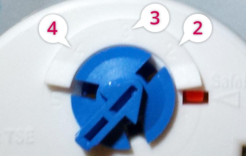 Molette thermostat chauffe-eau Altantic