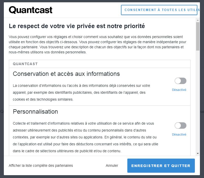 Popup Quantcast