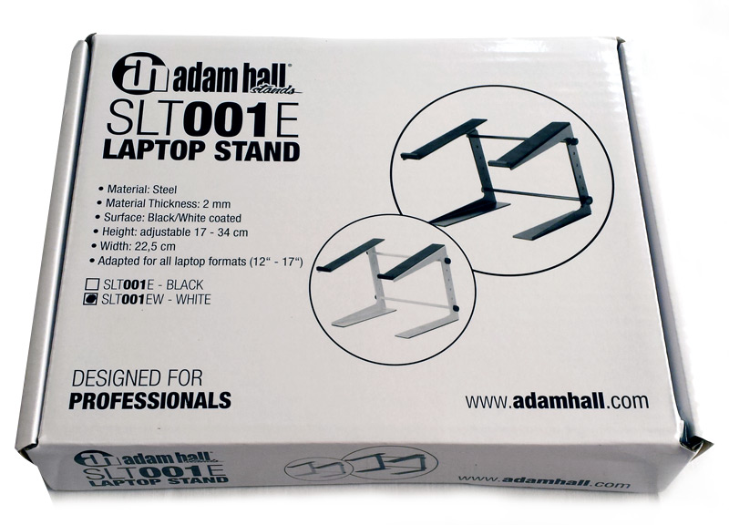 Boîte du support laptop Adam Hall
