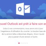 Annonce du nouvel Outlook
