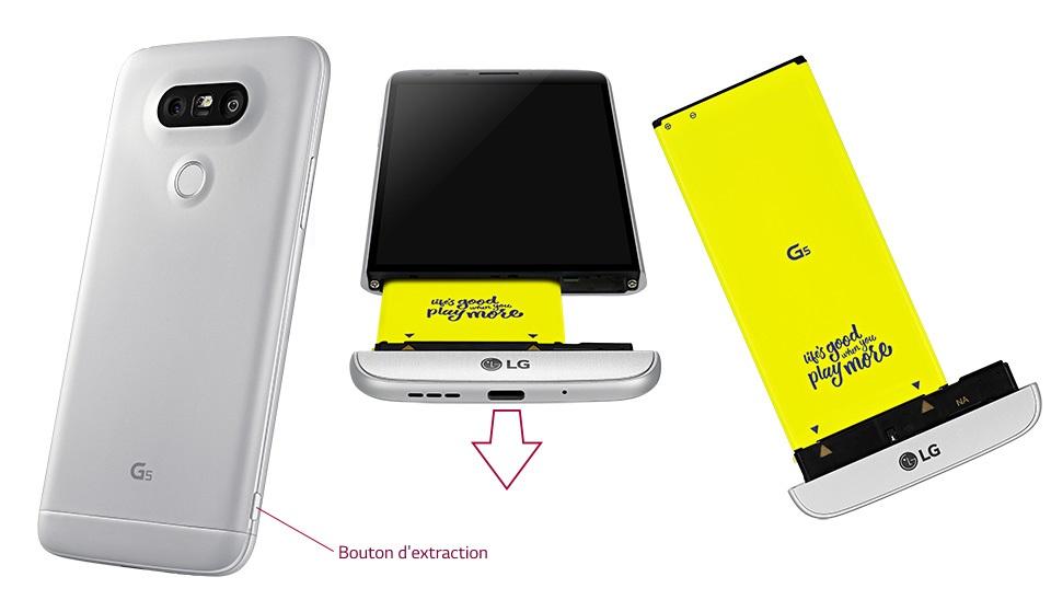 Remplacement de la batterie du LG G5