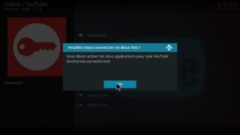 Extension Youtube - connexion en deux fois