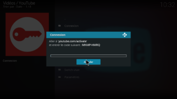 Extension Youtube - code de connexion