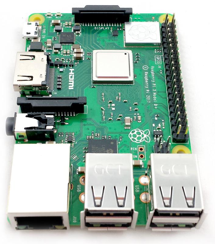 Ports UBS du Raspberry Pi 3 Modèle B+