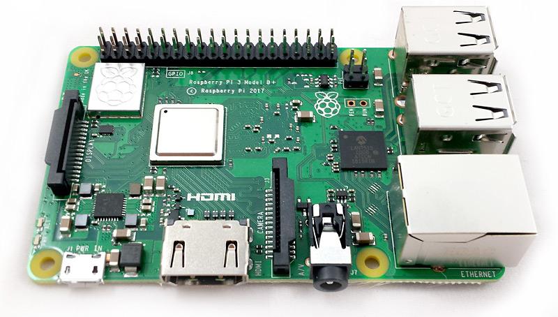 Face supérieure du Raspberry Pi 3 Modèle B+